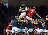 South Africa win lineout ball against Wales during 2016 autumn international